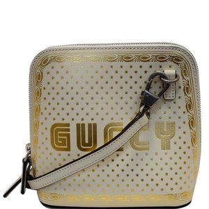 Gucci Moon Steller Ivory Leather Cross Body Bag